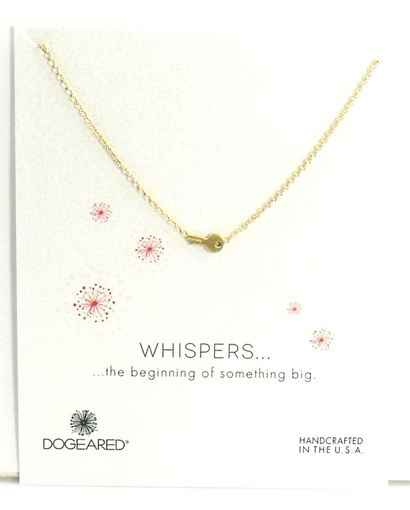 Dogeared Jewelry whispers key necklace, Sterling Silver