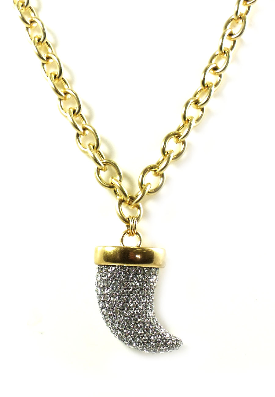 Juicy Couture Jewelry Pave Horn Chunky Necklace New 2013